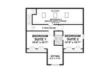 Craftsman Floor Plan - Upper Floor Plan Plan #56-616