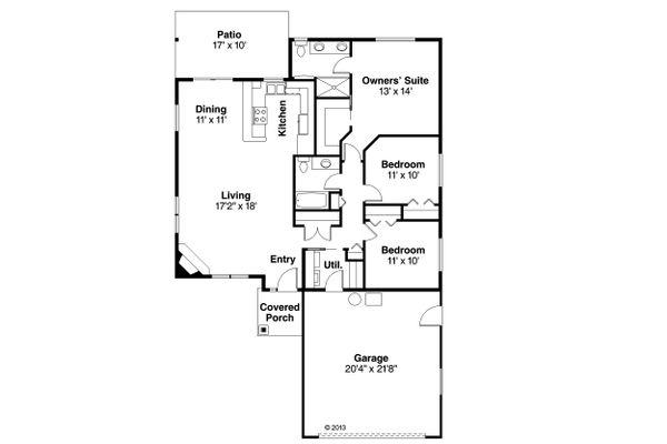 House Plan Design - Traditional Floor Plan - Main Floor Plan #124-914