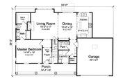 Farmhouse Style House Plan - 3 Beds 2.5 Baths 1664 Sq/Ft Plan #46-868 Floor Plan - Main Floor
