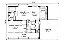 Farmhouse Floor Plan - Main Floor Plan Plan #46-868