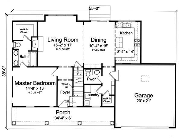 Home Plan - Farmhouse Floor Plan - Main Floor Plan #46-868