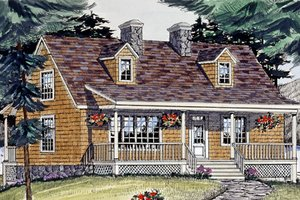 Cottage Exterior - Front Elevation Plan #456-25