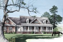 House Design - Front View - 3300 square foot Country home