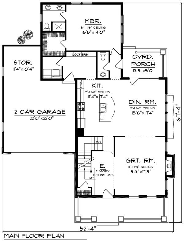 Traditional Floor Plan - Main Floor Plan #70-1200