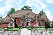 European Style House Plan - 5 Beds 5.5 Baths 4551 Sq/Ft Plan #52-167 Exterior - Other Elevation