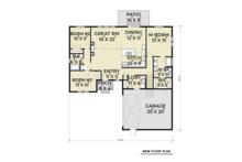Craftsman Floor Plan - Main Floor Plan Plan #1070-24