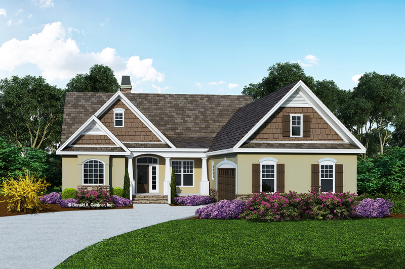 Ranch Exterior - Front Elevation Plan #929-408