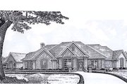 European Style House Plan - 3 Beds 3 Baths 3239 Sq/Ft Plan #310-931 Exterior - Front Elevation