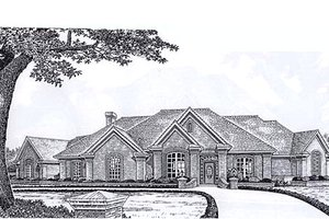 European Exterior - Front Elevation Plan #310-931