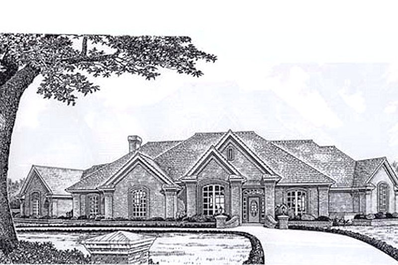 European Style House Plan - 3 Beds 3 Baths 3239 Sq/Ft Plan #310-931