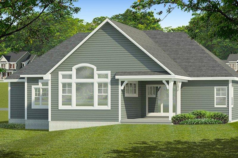 Ranch Exterior - Rear Elevation Plan #1010-185 - Houseplans.com