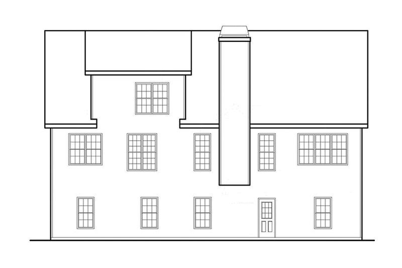 Country Exterior - Rear Elevation Plan #927-559 - Houseplans.com