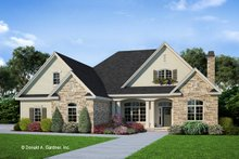 Architectural House Design - Craftsman Exterior - Front Elevation Plan #929-824