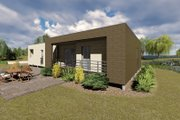 Modern Style House Plan - 3 Beds 2 Baths 1418 Sq/Ft Plan #549-4 Exterior - Other Elevation