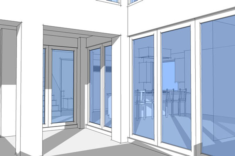 Contemporary Interior - Entry Plan #64-307 - Houseplans.com