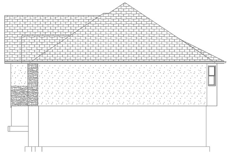 Ranch Exterior - Other Elevation Plan #1060-35 - Houseplans.com