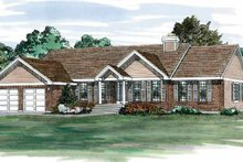 Colonial Exterior - Front Elevation Plan #47-831