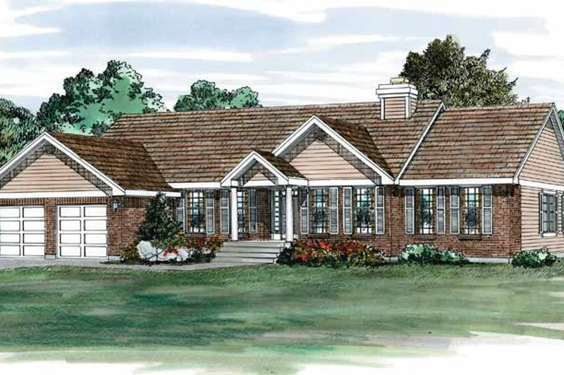 House Blueprint - Colonial Exterior - Front Elevation Plan #47-831