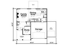Craftsman Floor Plan - Main Floor Plan Plan #20-2343
