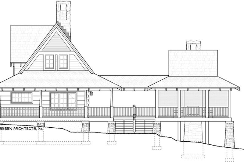 Log Exterior - Other Elevation Plan #928-281 - Houseplans.com