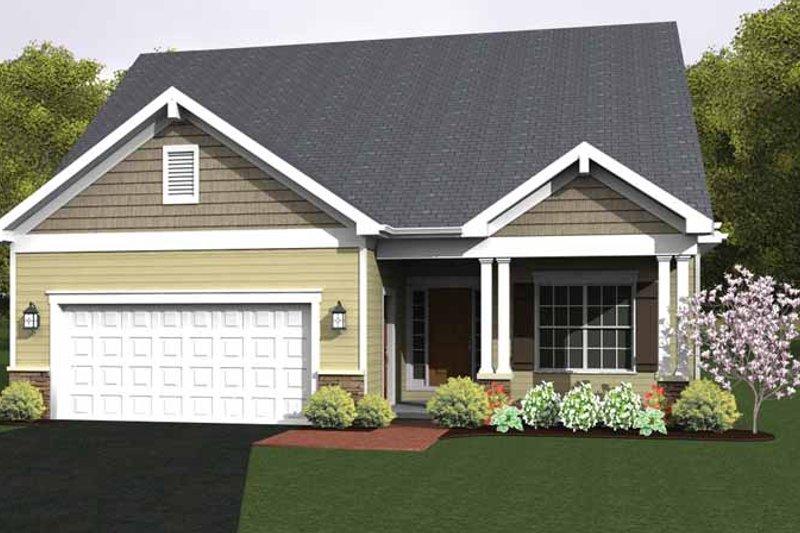 House Design - Ranch Exterior - Front Elevation Plan #1010-22