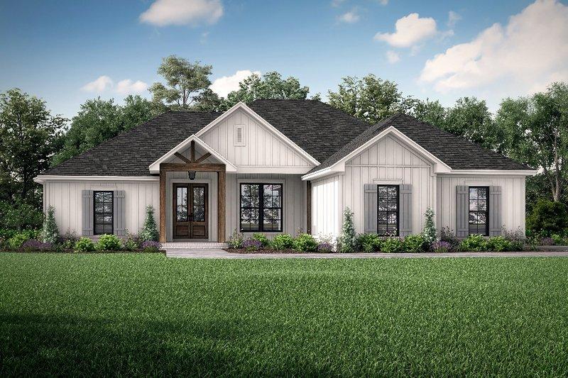 Dream House Plan - Farmhouse Exterior - Front Elevation Plan #430-207