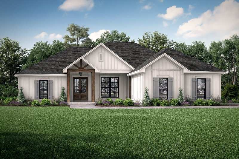 Farmhouse Style House Plan - 4 Beds 2 Baths 1850 Sq/Ft Plan #430-207