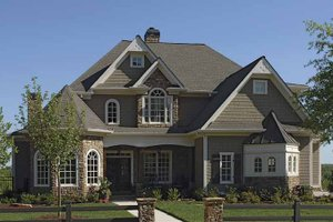 Home Plan - European Exterior - Front Elevation Plan #54-291