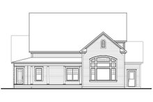 Home Plan - Rear View - 3000 square foot Traditional home