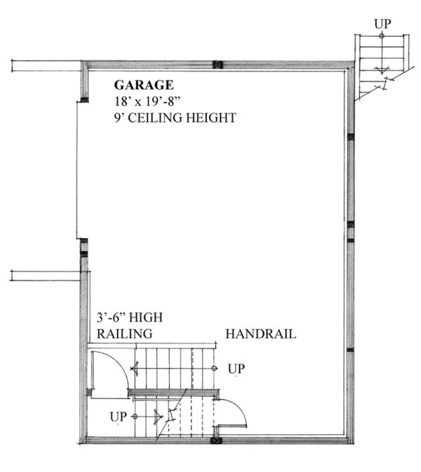House Plan Design - Contemporary Floor Plan - Main Floor Plan #118-157