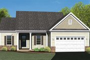 Colonial Style House Plan - 2 Beds 2 Baths 1575 Sq/Ft Plan #1010-69 Exterior - Front Elevation