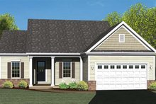 Colonial Exterior - Front Elevation Plan #1010-69