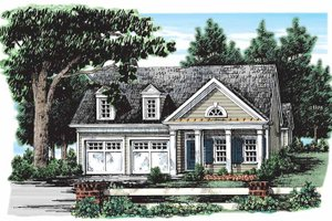 Classical Exterior - Front Elevation Plan #927-134
