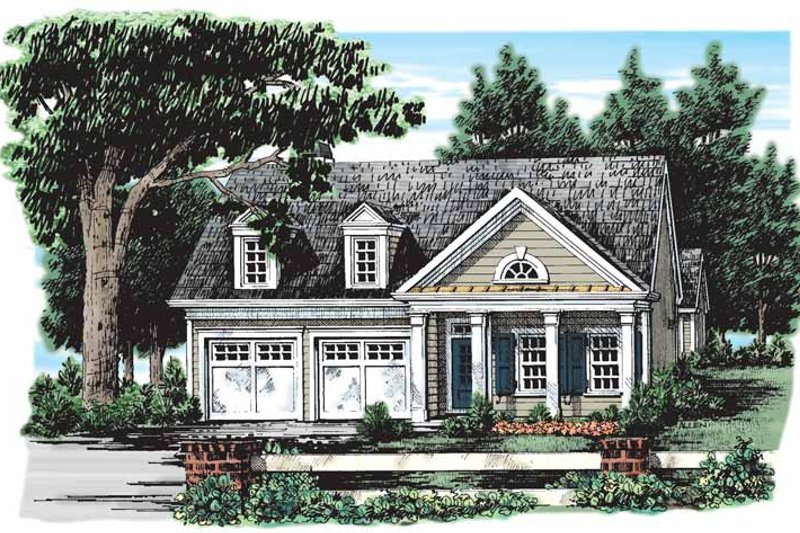 Classical Style House Plan - 2 Beds 2 Baths 1437 Sq/Ft Plan #927-134