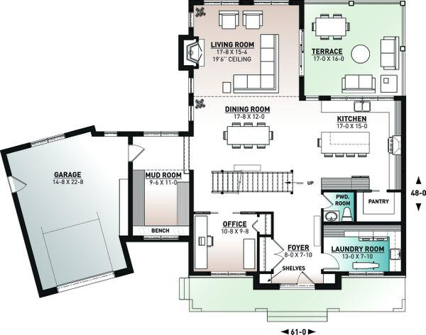 Home Plan - Farmhouse Floor Plan - Main Floor Plan #23-2742