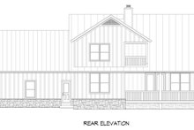 Southern Exterior - Rear Elevation Plan #932-97