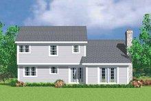 Colonial Exterior - Rear Elevation Plan #72-1072