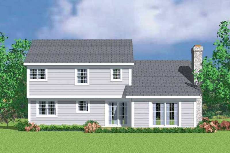 Colonial Exterior - Rear Elevation Plan #72-1072 - Houseplans.com