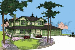 House Design - Ranch Exterior - Front Elevation Plan #60-1026