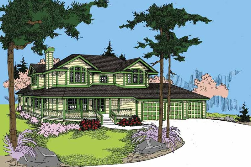 Architectural House Design - Ranch Exterior - Front Elevation Plan #60-1026