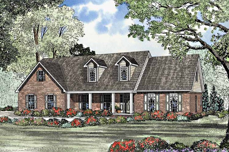Country Exterior - Front Elevation Plan #17-3163