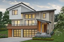 Dream House Plan - Contemporary Exterior - Front Elevation Plan #48-1009