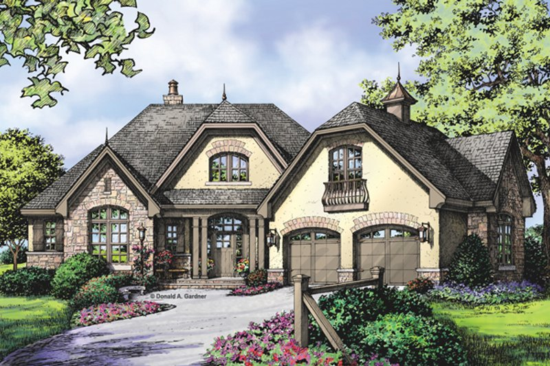 European Exterior - Front Elevation Plan #929-950 - Houseplans.com