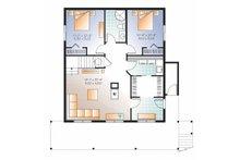 European Floor Plan - Lower Floor Plan Plan #23-2488