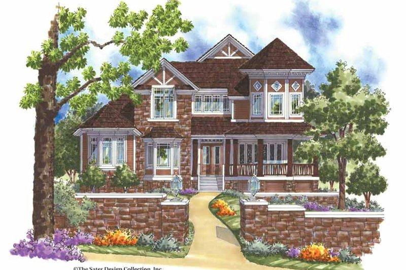 Architectural House Design - Victorian Exterior - Front Elevation Plan #930-166