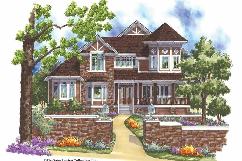 Architectural House Design - Victorian Exterior - Front Elevation Plan #930-166