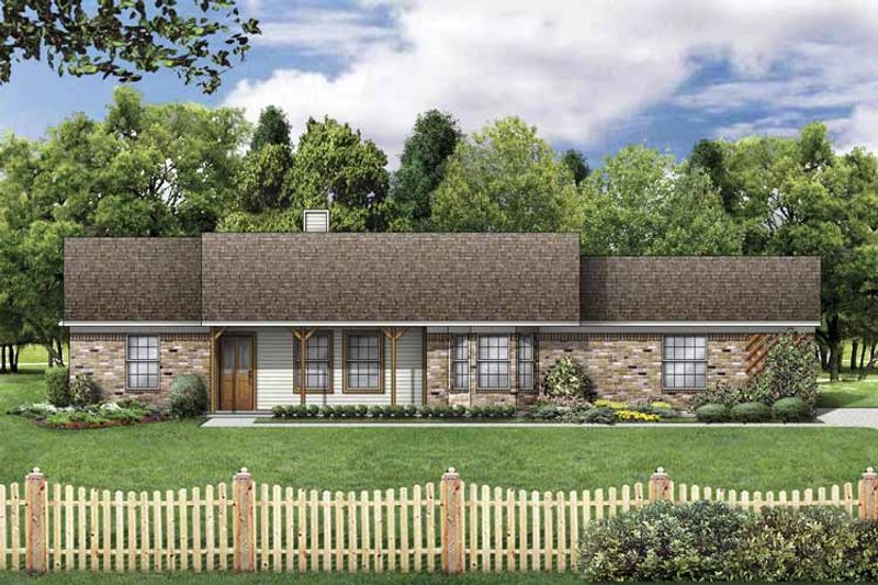 Country Exterior - Front Elevation Plan #84-749