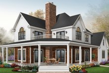 Dream House Plan - Traditional Exterior - Front Elevation Plan #23-871