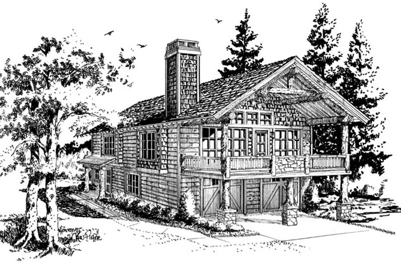 Country Exterior - Front Elevation Plan #942-20 - Houseplans.com