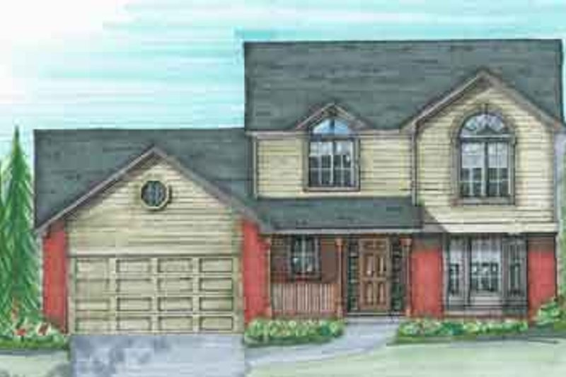 Traditional Style House Plan - 3 Beds 2.5 Baths 1920 Sq/Ft Plan #136-110